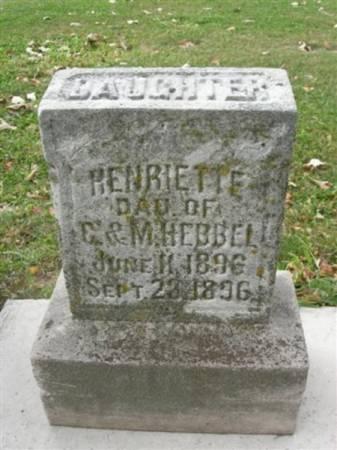HEBBEL, HENRIETTE - Scott County, Iowa | HENRIETTE HEBBEL