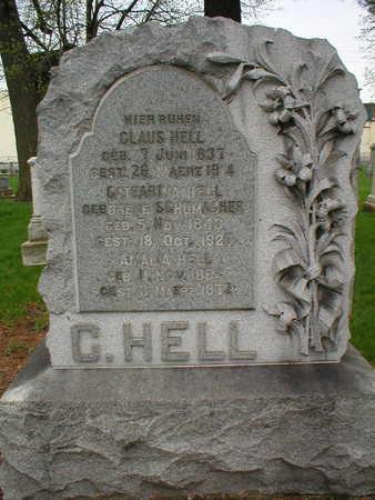 HELL, AMALIA - Scott County, Iowa | AMALIA HELL