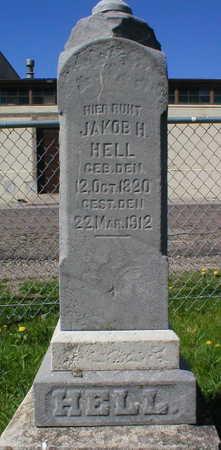 HELL, JAKOB H. - Scott County, Iowa   JAKOB H. HELL