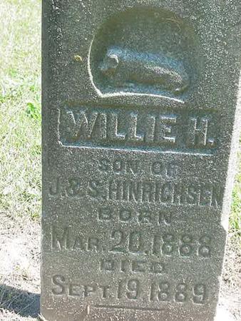 HINRICHSEN, WILLIE M - Scott County, Iowa   WILLIE M HINRICHSEN