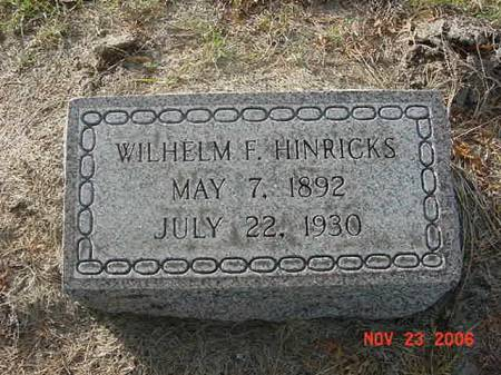 HINRICKS, WILHELM F - Scott County, Iowa | WILHELM F HINRICKS