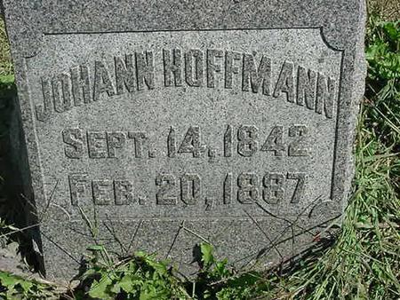 HOFFMANN, JOHANN - Scott County, Iowa | JOHANN HOFFMANN