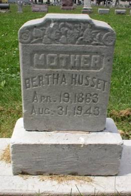 HUSSET, BERTHA - Scott County, Iowa | BERTHA HUSSET