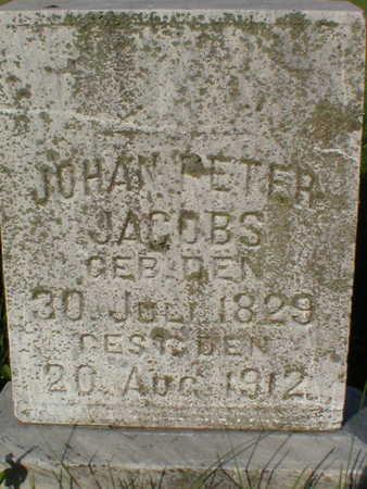 JACOBS, JOHANN PETER - Scott County, Iowa | JOHANN PETER JACOBS