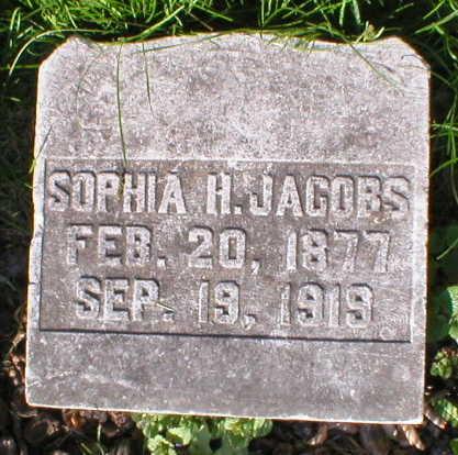 JACOBS, SOPHIA H. - Scott County, Iowa | SOPHIA H. JACOBS