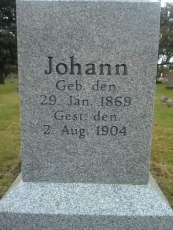 JANSS, JOHANN - Scott County, Iowa | JOHANN JANSS