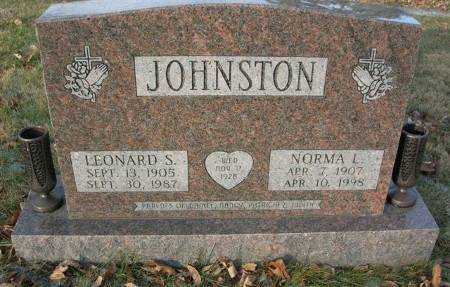 JOHNSTON, LEONARD S. - Scott County, Iowa | LEONARD S. JOHNSTON