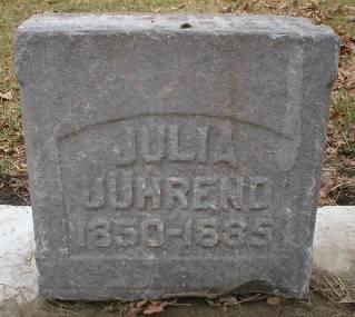 JUHREND, JULIA - Scott County, Iowa   JULIA JUHREND