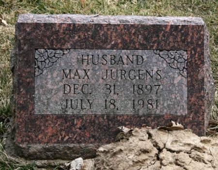 JURGENS, MAX - Scott County, Iowa | MAX JURGENS