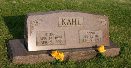 KAHL, ANNIE - Scott County, Iowa | ANNIE KAHL