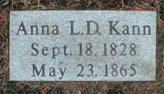 KANN, ANNA L.D. - Scott County, Iowa   ANNA L.D. KANN