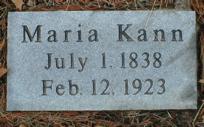 KANN, MARIA - Scott County, Iowa   MARIA KANN