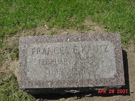 KAUTZ, FRANCES E - Scott County, Iowa | FRANCES E KAUTZ