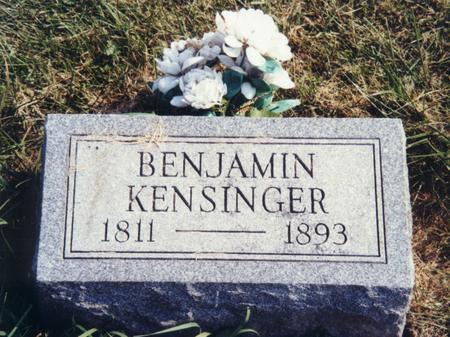 KENSINGER, BENJAMIN - Scott County, Iowa | BENJAMIN KENSINGER