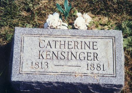KENSINGER, CATHERINE - Scott County, Iowa | CATHERINE KENSINGER