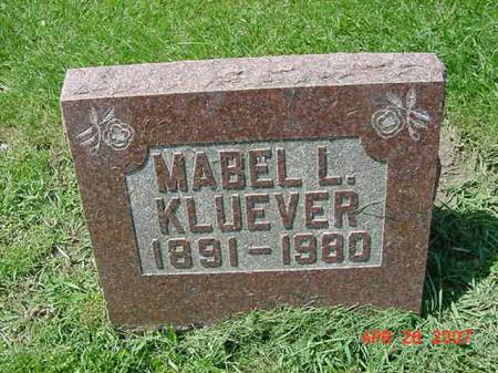 KLUEVER, MABEL L - Scott County, Iowa | MABEL L KLUEVER