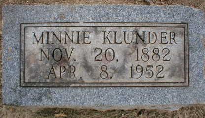 KLUNDER, MINNIE - Scott County, Iowa | MINNIE KLUNDER