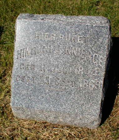KNIEGGE, HINRICH C. - Scott County, Iowa   HINRICH C. KNIEGGE