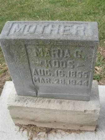 KOOS, MARIA C. - Scott County, Iowa   MARIA C. KOOS