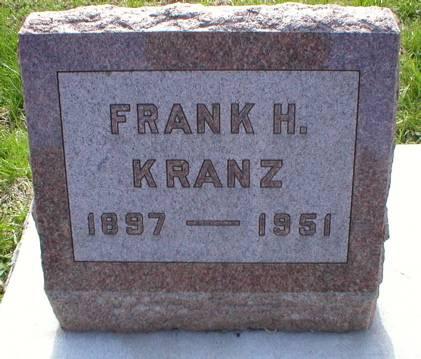 KRANZ, FRANK H. - Scott County, Iowa | FRANK H. KRANZ