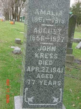 KRESS, AUGUST - Scott County, Iowa   AUGUST KRESS