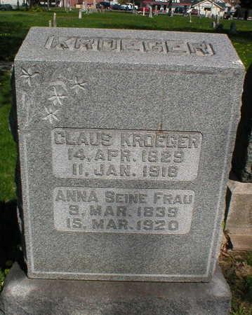 KROEGER, CLAUS - Scott County, Iowa   CLAUS KROEGER