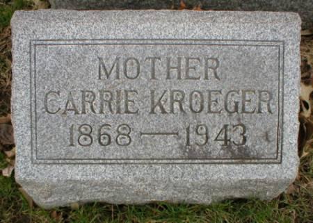KROEGER, CARRIE - Scott County, Iowa   CARRIE KROEGER