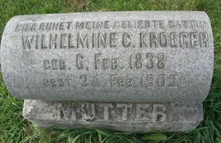 KROEGER, WILHELMINE C. - Scott County, Iowa | WILHELMINE C. KROEGER