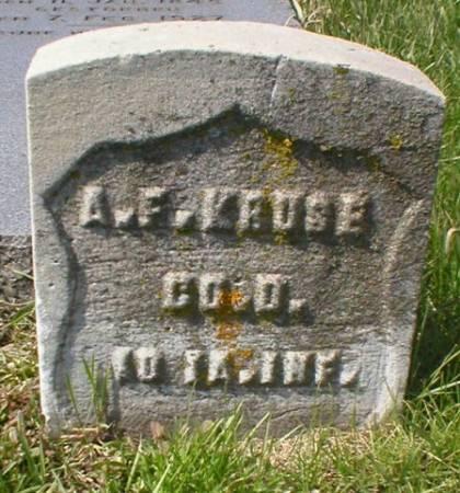 KRUSE, A. F. - Scott County, Iowa   A. F. KRUSE