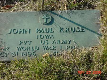 KRUSE, JOHN PAUL - Scott County, Iowa | JOHN PAUL KRUSE