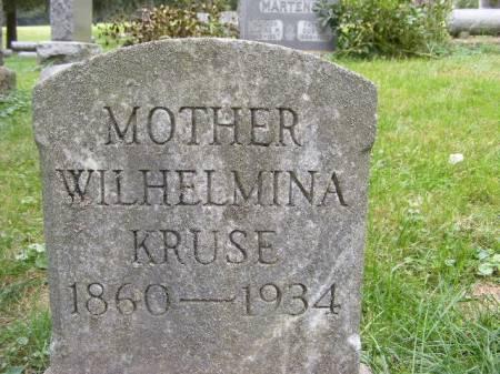 KRUSE, WILHELMINA - Scott County, Iowa   WILHELMINA KRUSE