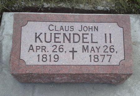 KUENDEL, CLAUS JOHN - Scott County, Iowa | CLAUS JOHN KUENDEL