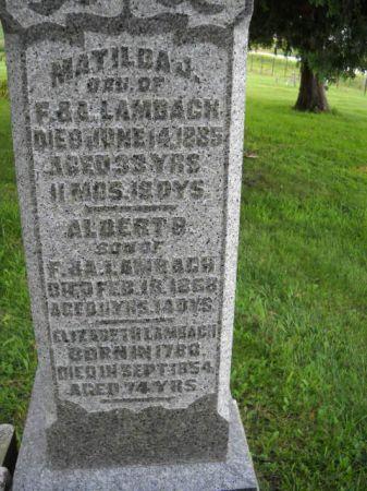 LAMBACH, ALBERT  B. - Scott County, Iowa | ALBERT  B. LAMBACH