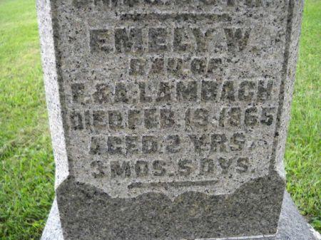 LAMBACH, EMELY  W. - Scott County, Iowa   EMELY  W. LAMBACH