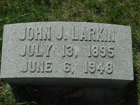 LARKIN, JOHN J - Scott County, Iowa | JOHN J LARKIN