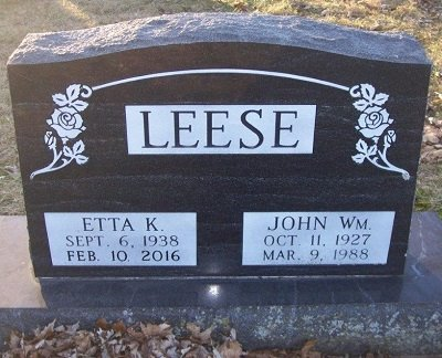 LEESE, JOHN WILLIAM - Scott County, Iowa | JOHN WILLIAM LEESE