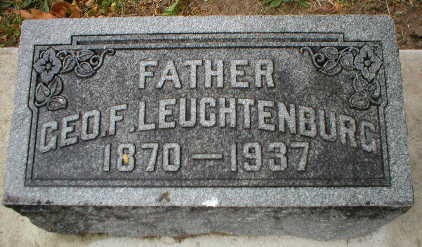 LEUCHTENBURG, GEORGE F. - Scott County, Iowa | GEORGE F. LEUCHTENBURG