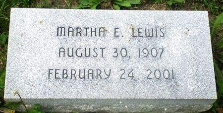 LEWIS, MARTHA E. - Scott County, Iowa | MARTHA E. LEWIS