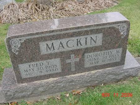 MACKIN, DOROTHY M - Scott County, Iowa | DOROTHY M MACKIN