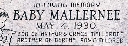 MALLERNEE, BABY - Scott County, Iowa | BABY MALLERNEE