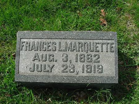 MARQUETTE, FRANCES L - Scott County, Iowa | FRANCES L MARQUETTE