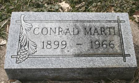 MARTI, CONRAD - Scott County, Iowa   CONRAD MARTI
