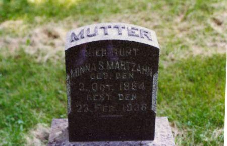 SCHMIDT MARTZAHN, MINNA SOPHIA - Scott County, Iowa | MINNA SOPHIA SCHMIDT MARTZAHN