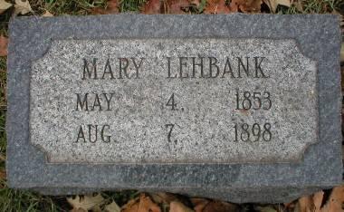 LEHBANK, MARY - Scott County, Iowa   MARY LEHBANK
