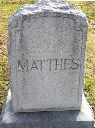 MATTHES, - - Scott County, Iowa | - MATTHES