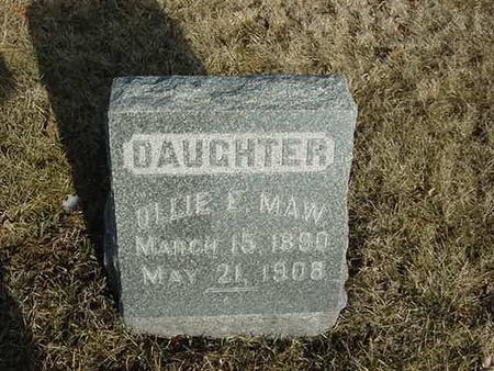 MAW, OLLIE E - Scott County, Iowa | OLLIE E MAW