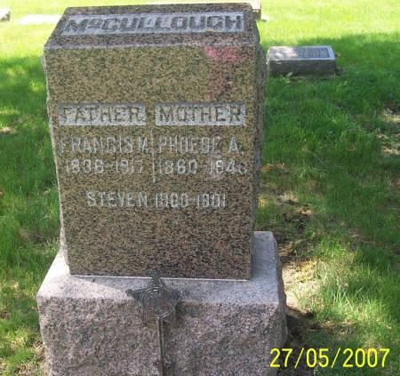 VERRIER MCCULLOUGH, PHEOBE ANNA - Scott County, Iowa | PHEOBE ANNA VERRIER MCCULLOUGH