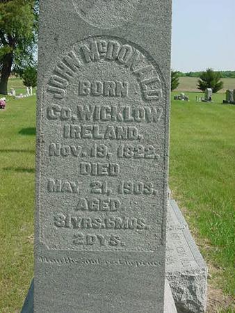 MCDONALD, JOHN - Scott County, Iowa   JOHN MCDONALD