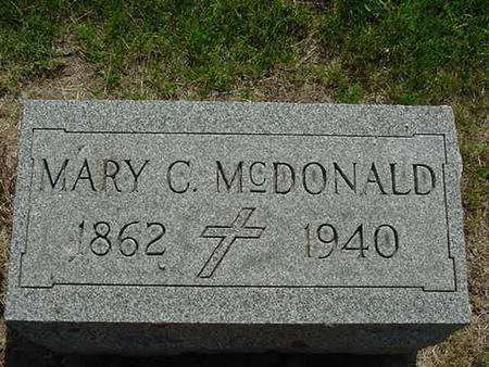MCDONALD, MARY C - Scott County, Iowa | MARY C MCDONALD