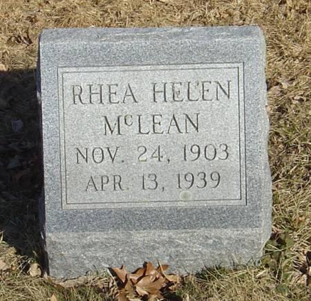MCLEAN, RHEA HELEN - Scott County, Iowa | RHEA HELEN MCLEAN